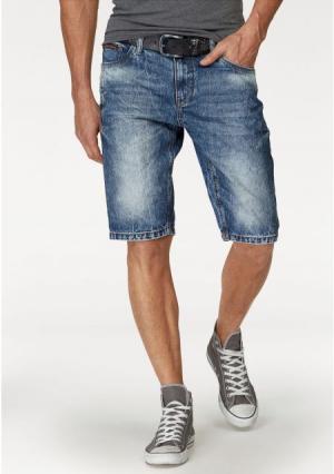 Джинсовые шорты Summer. Цвет: голубой потертый