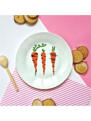 Тарелка Морковка Сотвори Чудо. Цвет: белый