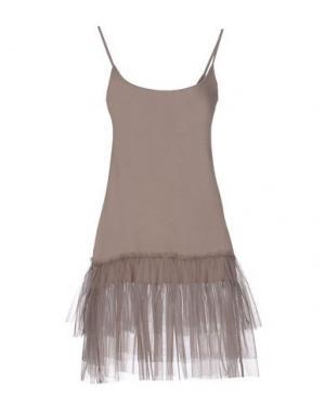 Короткое платье SOUVENIR. Цвет: хаки