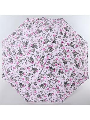 Зонт ArtRain. Цвет: серый меланж, бледно-розовый
