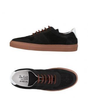 Низкие кеды и кроссовки THE EDITOR. Цвет: черный