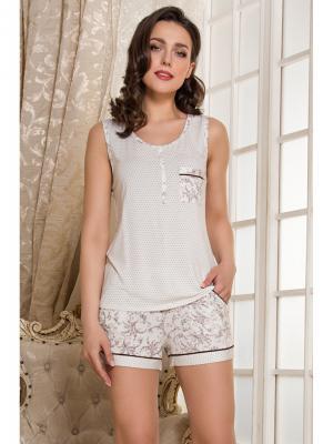 Пижама MIA-MELLA. Цвет: молочный
