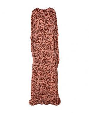 Длинное платье ISSA. Цвет: лососево-розовый