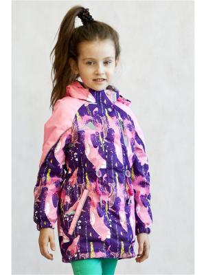 Куртка Oldos. Цвет: фиолетовый,розовый