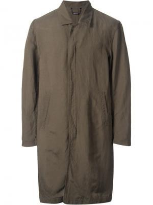 Пальто в стиле милитари monkey time. Цвет: зелёный