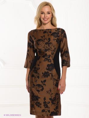 Платье ЭНСО. Цвет: коричневый, черный