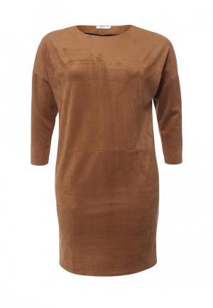Платье Lina. Цвет: коричневый