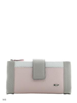 Кошелек Esse. Цвет: серый, белый, розовый