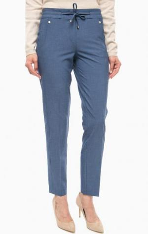 Синие брюки со шнуром на талии olsen. Цвет: синий