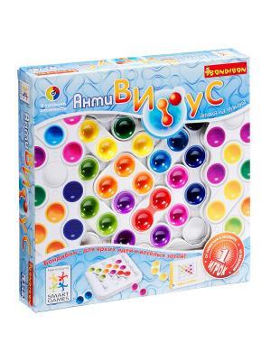 Логическая игра Bondibon АнтиВирус, арт.SG 520  RU. Цвет: голубой, зеленый, розовый, фиолетовый