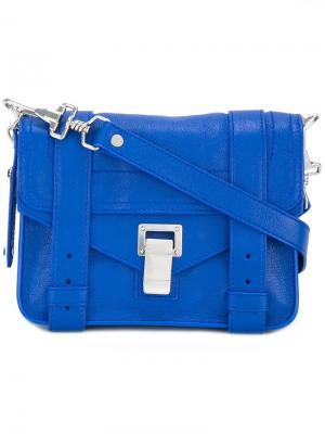 Мини сумка через плечо PS1 Proenza Schouler. Цвет: синий