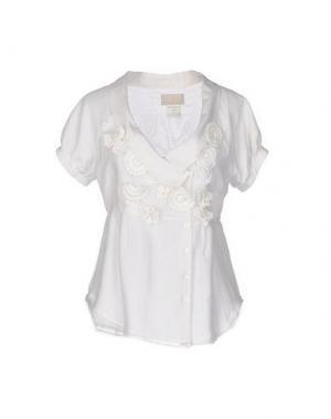 Pубашка ROBERTA SCARPA. Цвет: слоновая кость