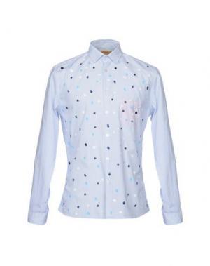 Pубашка BEAT GENERATION. Цвет: небесно-голубой