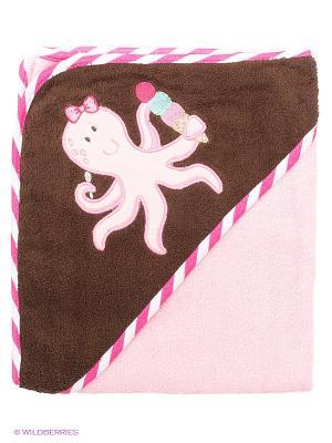 Полотенце Luvable Friends. Цвет: розовый, коричневый