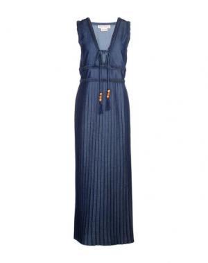 Длинное платье VERONIQUE BRANQUINHO. Цвет: синий