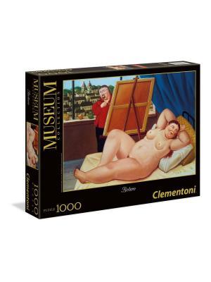Clementoni. Фернандо Ботеро Автопортрет с моделью. Серия музей. Пазл 1000 элементов. Clementoni. Цвет: черный, желтый, красный