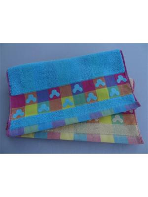 Полотенца банные A and C Collection. Цвет: красный, синий
