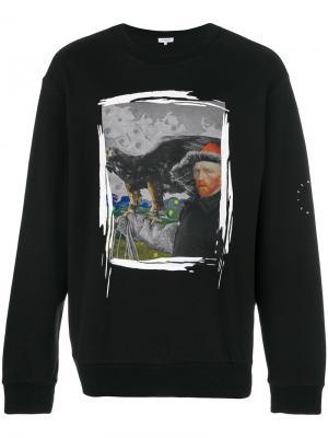 Толстовка с принтом Van Gogh Les Benjamins. Цвет: чёрный