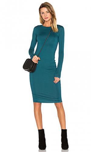 Мини-платье с длинным рукавом BLQ BASIQ. Цвет: синий