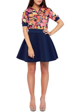 Рубашка Majaly. Цвет: мультиколор