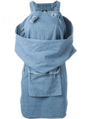 Платье Keep It Unreal Bernhard Willhelm. Цвет: синий