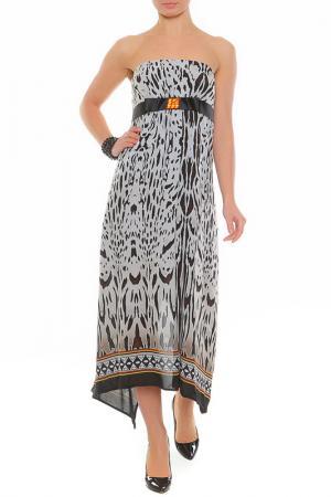 Платье XS MILANO. Цвет: серый, черный
