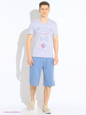 Спортивные шорты U.S. Polo Assn.. Цвет: голубой