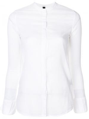 Рубашка с потайной планкой Poème Bohémien. Цвет: белый