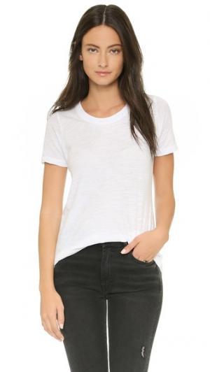 Объемная футболка с округлым вырезом MONROW. Цвет: белый