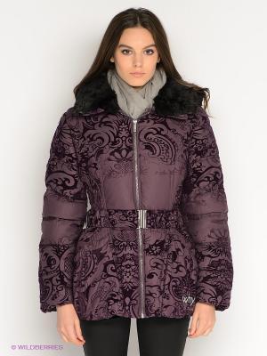 Куртка Desigual. Цвет: лиловый, сливовый