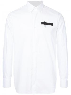 Рубашка с отделкой в виде булавки Matthew Miller. Цвет: белый
