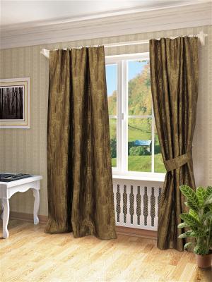 Комплект штор Эви SANPA HOME COLLECTION. Цвет: коричневый