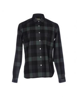 Pубашка OLIVER SPENCER. Цвет: темно-зеленый