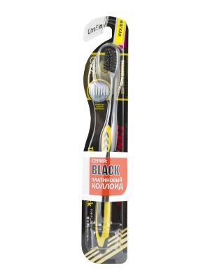 Зубная щетка Black Ultra Slim мягкая DENTALPRO. Цвет: желтый
