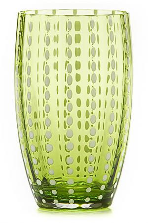Бокал для сока и воды Zafferano. Цвет: зеленый
