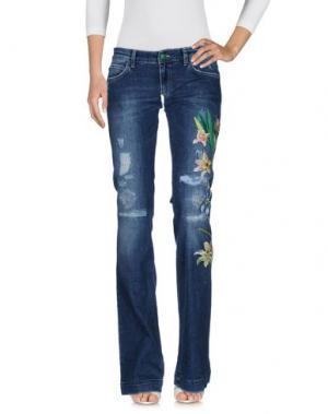 Джинсовые брюки FEMME by MICHELE ROSSI. Цвет: синий