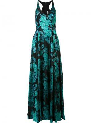 Long jacquard dress Badgley Mischka. Цвет: зелёный