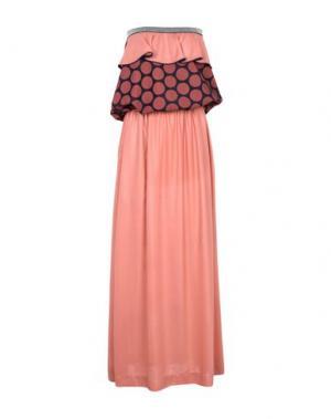 Длинное платье DV Roma. Цвет: коралловый