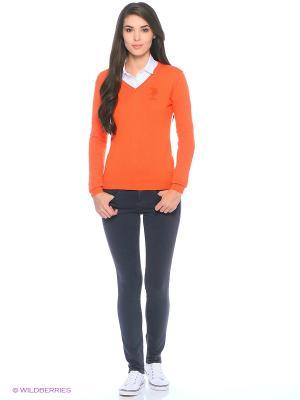 Пуловер U.S. Polo Assn.. Цвет: оранжевый