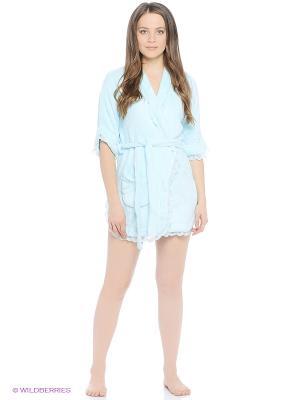 Халаты Lelio. Цвет: голубой, светло-голубой