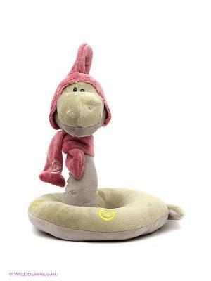 Игрушка змей Луи 30см ORANGE. Цвет: оливковый, розовый
