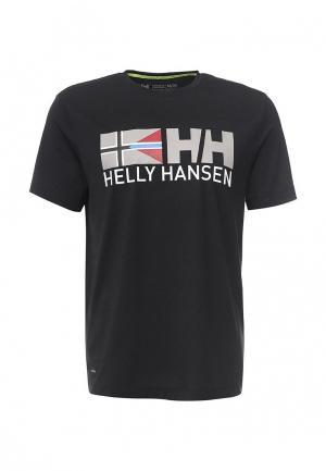 Футболка спортивная Helly Hansen. Цвет: черный