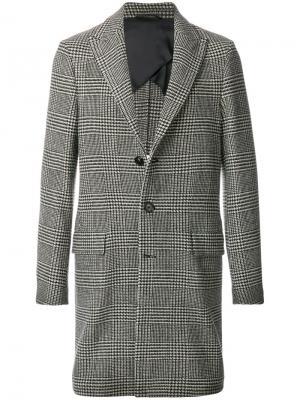 Пальто в клетку Dondup. Цвет: чёрный