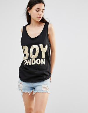 BOY London Майка. Цвет: черный