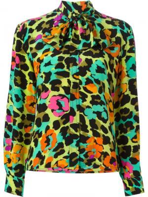 Рубашка в принт Jean Louis Scherrer Vintage. Цвет: многоцветный