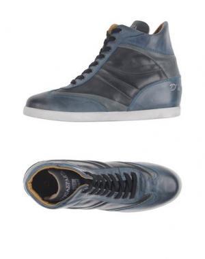 Высокие кеды и кроссовки D'ACQUASPARTA. Цвет: грифельно-синий