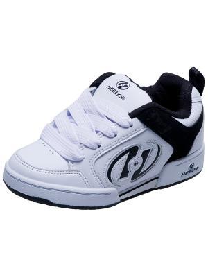 Роликовые кроссовки Heelys. Цвет: белый, черный