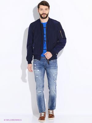 Куртка Oodji. Цвет: индиго