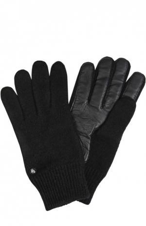Вязаные перчатки Roeckl. Цвет: черный