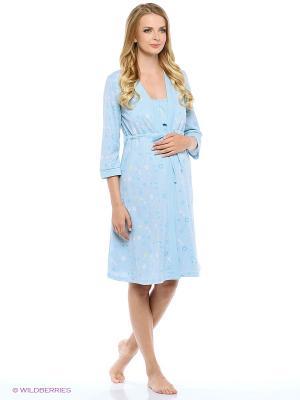 Комплект для беременных и кормящих FEST. Цвет: голубой, белый